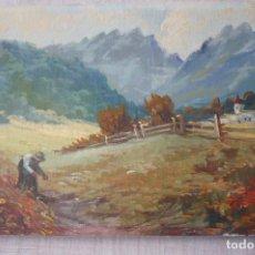 Arte: OLEO SOBRE TABLERO PINTOR PLANS. Lote 195540717
