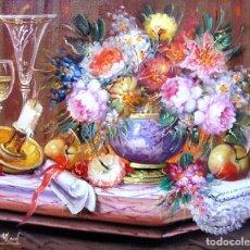 Arte: ROBERTO MICHEL - BARCELONA 1.944 ÓLEO SOBRE LIENZO - NATURALEZA MUERTA. Lote 195543885