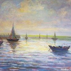 Arte: MARINA ESPECTACULAR DE AMANECER POR ANTONIO SANCHEZ CORRALIZA. Lote 195544510