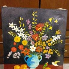 Art: PRECIOSO ANTIGUO CUADRO FLORES PINTADO, FIRMADOJAIME POU?. Lote 195576733