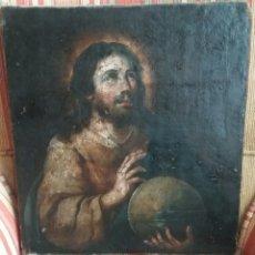 Arte: MURILLO, BARTOLOMÉ ESTEBAN (SEVILLA-1618-1682) CÍRCULO O TALLER DE: CRISTO SALVADOR DEL MUNDO. Lote 149282114