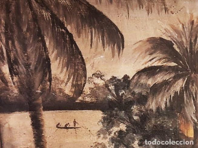 Arte: ESCUELA COLONIAL (LA MARTINICA) AÑOS 40-50, PESCADORES Y CASAS CRIOLLAS,ÓLEO / TABLA E,H, 47 x 77´50 - Foto 2 - 195688221