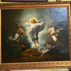 Arte: TEMA RELIGIOSO OLEO SOBRE LIENZO MEDIDAS 71X91 CON MARCO 81X101. Lote 195713650