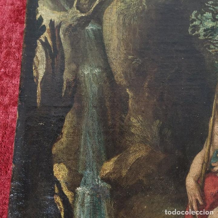 Arte: SAN JUAN EN EL DESIERTO. ÓLEO SOBRE LIENZO. ESCUELA ITALO-FLAMENCA. PAISES BAJOS. SIGLO XVII - Foto 2 - 195719157