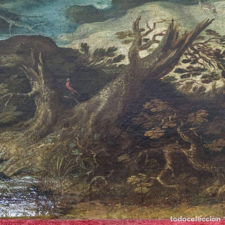 Arte: SAN JUAN EN EL DESIERTO. ÓLEO SOBRE LIENZO. ESCUELA ITALO-FLAMENCA. PAISES BAJOS. SIGLO XVII - Foto 3 - 195719157