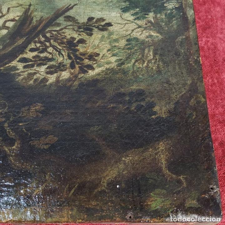 Arte: SAN JUAN EN EL DESIERTO. ÓLEO SOBRE LIENZO. ESCUELA ITALO-FLAMENCA. PAISES BAJOS. SIGLO XVII - Foto 4 - 195719157