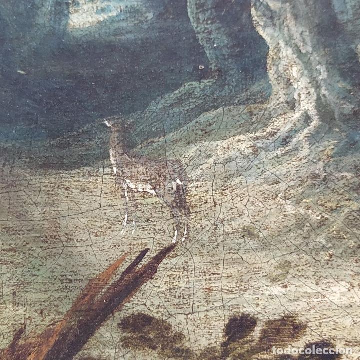 Arte: SAN JUAN EN EL DESIERTO. ÓLEO SOBRE LIENZO. ESCUELA ITALO-FLAMENCA. PAISES BAJOS. SIGLO XVII - Foto 5 - 195719157