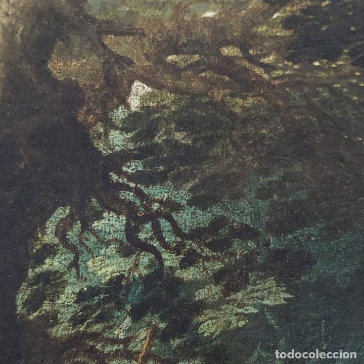 Arte: SAN JUAN EN EL DESIERTO. ÓLEO SOBRE LIENZO. ESCUELA ITALO-FLAMENCA. PAISES BAJOS. SIGLO XVII - Foto 6 - 195719157