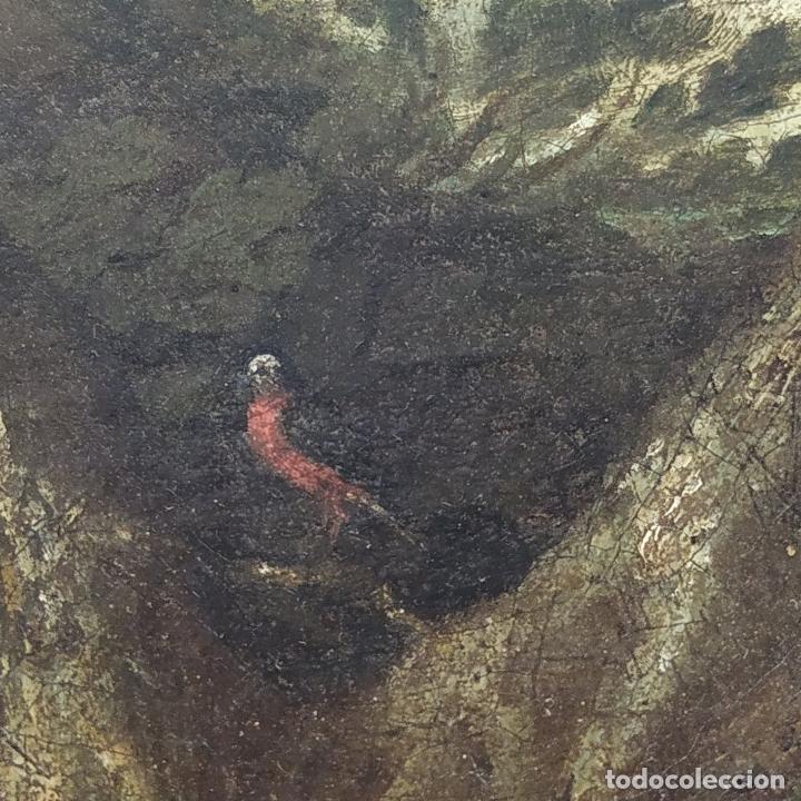 Arte: SAN JUAN EN EL DESIERTO. ÓLEO SOBRE LIENZO. ESCUELA ITALO-FLAMENCA. PAISES BAJOS. SIGLO XVII - Foto 7 - 195719157