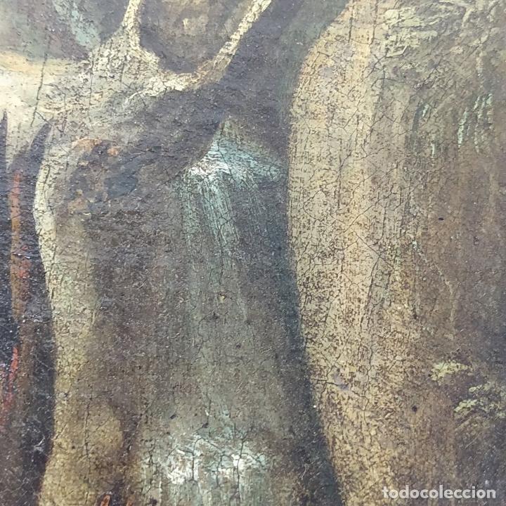 Arte: SAN JUAN EN EL DESIERTO. ÓLEO SOBRE LIENZO. ESCUELA ITALO-FLAMENCA. PAISES BAJOS. SIGLO XVII - Foto 8 - 195719157