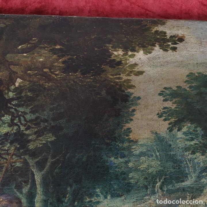Arte: SAN JUAN EN EL DESIERTO. ÓLEO SOBRE LIENZO. ESCUELA ITALO-FLAMENCA. PAISES BAJOS. SIGLO XVII - Foto 17 - 195719157