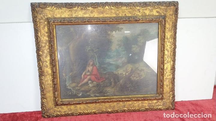 Arte: SAN JUAN EN EL DESIERTO. ÓLEO SOBRE LIENZO. ESCUELA ITALO-FLAMENCA. PAISES BAJOS. SIGLO XVII - Foto 18 - 195719157