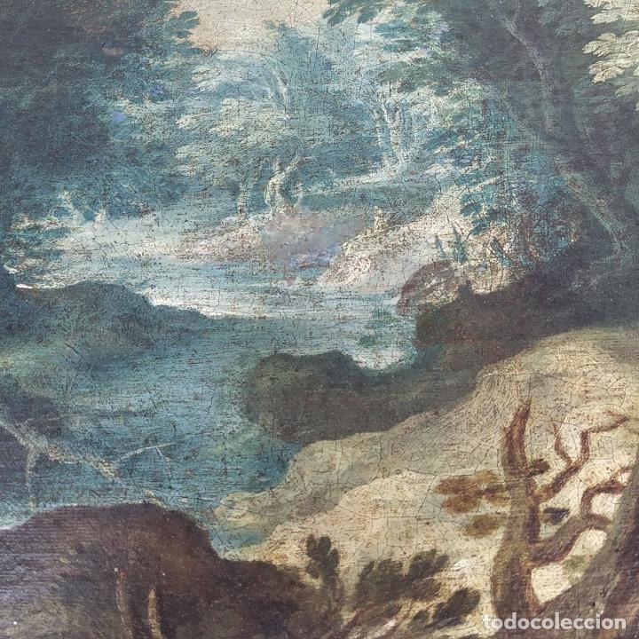 Arte: SAN JUAN EN EL DESIERTO. ÓLEO SOBRE LIENZO. ESCUELA ITALO-FLAMENCA. PAISES BAJOS. SIGLO XVII - Foto 21 - 195719157