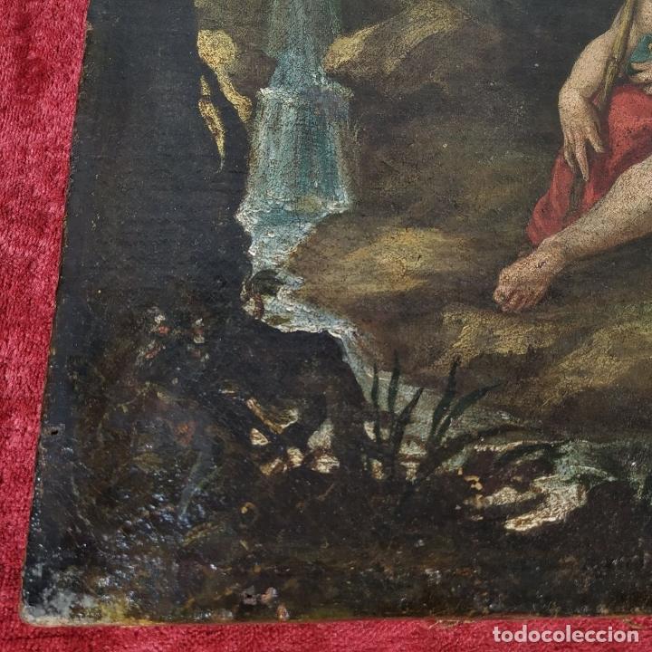 Arte: SAN JUAN EN EL DESIERTO. ÓLEO SOBRE LIENZO. ESCUELA ITALO-FLAMENCA. PAISES BAJOS. SIGLO XVII - Foto 26 - 195719157