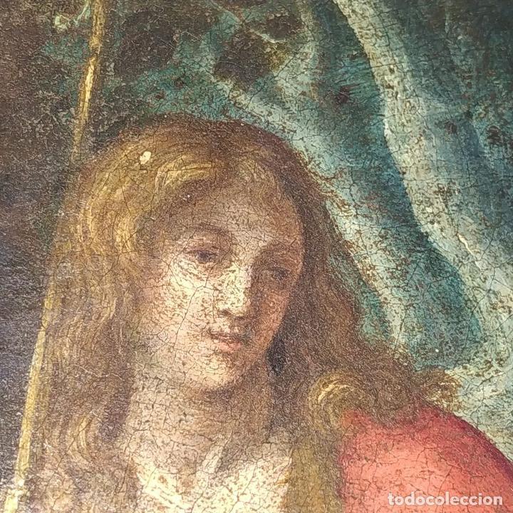 Arte: SAN JUAN EN EL DESIERTO. ÓLEO SOBRE LIENZO. ESCUELA ITALO-FLAMENCA. PAISES BAJOS. SIGLO XVII - Foto 31 - 195719157