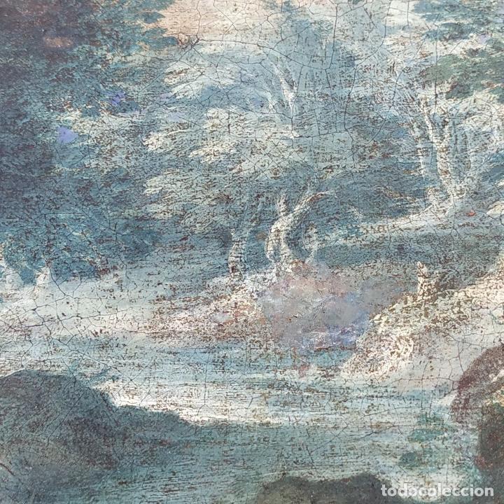 Arte: SAN JUAN EN EL DESIERTO. ÓLEO SOBRE LIENZO. ESCUELA ITALO-FLAMENCA. PAISES BAJOS. SIGLO XVII - Foto 39 - 195719157