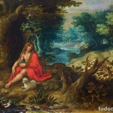 Arte: SAN JUAN EN EL DESIERTO. ÓLEO SOBRE LIENZO. ESCUELA ITALO-FLAMENCA. PAISES BAJOS. SIGLO XVII. Lote 195719157