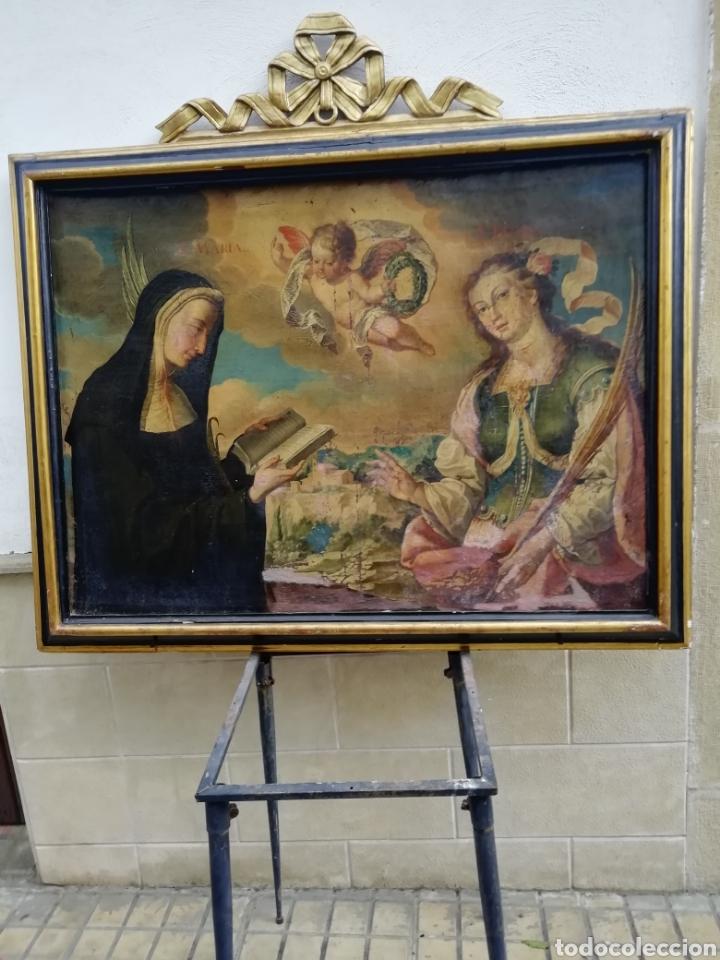 SANTA'S MARTIRES (Arte - Pintura - Pintura al Óleo Antigua siglo XVII)