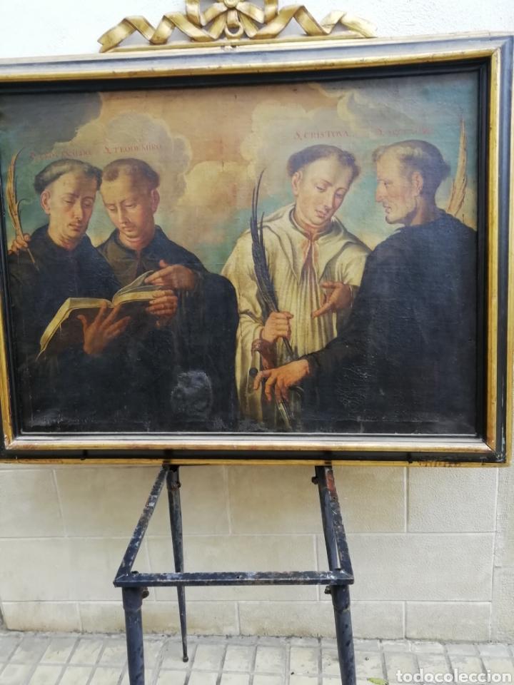 SANTOS MARTIRES (Arte - Pintura - Pintura al Óleo Antigua siglo XVII)