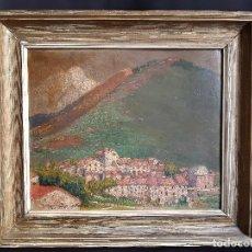 Arte: PAISAJE. ÓLEO SOBRE CARTÓN. FIRMADO. JOAQUÍN TERRUELLA MATILLA 1871 - 1957. Lote 195812515