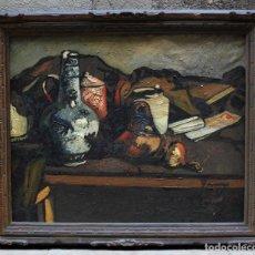 Arte: JOSEP TRUCO PRAT, BODEGÓN, PINTURA AL ÓLEO SOBRE TELA, FIRMADO CON MARCO. 96X81CM. Lote 195844370