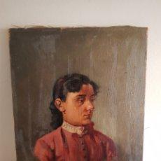 Arte: ANTIGUA PINTURA S.XIX RETRATO FIRMA ILEGIBLE. Lote 195944496