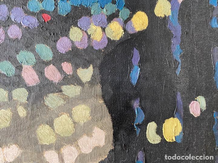 Arte: OLEO SOBRE LIENZO FIRMADO CON INICIALES SHM , A DOCUMENTAR , DE 1970 APROX. - Foto 2 - 195978397