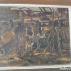 Arte: OLEO SOBRE MADERA VICENTE ARMENGOT COLAS,HOSPITALET 1949. Lote 196075022