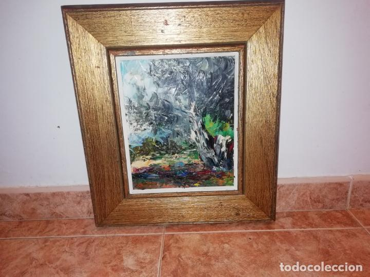MARAVILLOSO ÓLEO DE OLIVO MALLORQUÍN DE JUAN BORRÁS. BUÑOLA. MALLORCA. 23 X 27 CM (Arte - Pintura - Pintura al Óleo Moderna sin fecha definida)