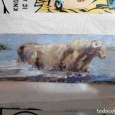 Arte: MAGNÍFICA MINIATURA TAURINA AL ÓLEO. OBRA ORIGINAL. Lote 85774080