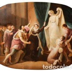 """Arte: TRABAJO FRANCÉS, SIGLO XIX. """"ESCENA HISTORICISTA"""". ÓLEO SOBRE COBRE.. Lote 196121172"""