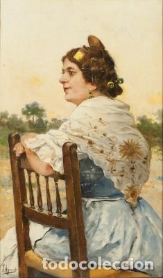 """JOAQUÍN AGRASOT I JUAN """"VALENCIANA"""" (Arte - Pintura - Pintura al Óleo Moderna siglo XIX)"""