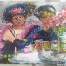 Arte: UNA NOCHE ENTRE CENAS (ORIGINAL). Lote 196135933