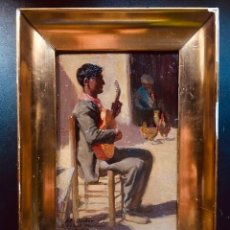 Arte: RESERVADO - OBRA DEL PINTOR VALENCIANO RICARDO VERDE RUBIO, FIRMADA Y DEDICADA. SIGLO XX.. Lote 196170501