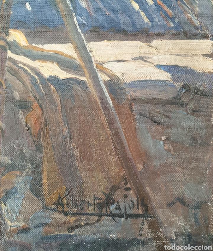 Arte: Alberto Ràfols Cullerés (Barcelona, 1892-1986) - Sol de Invierno.oleo/tela.Firmado.Titulado. - Foto 3 - 196270443