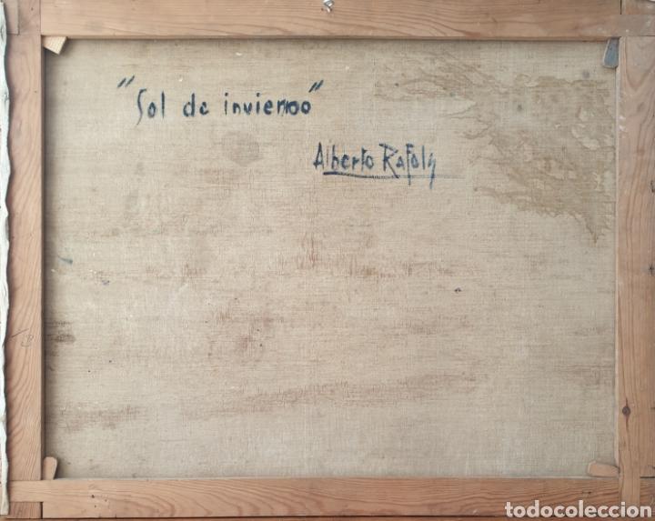 Arte: Alberto Ràfols Cullerés (Barcelona, 1892-1986) - Sol de Invierno.oleo/tela.Firmado.Titulado. - Foto 4 - 196270443