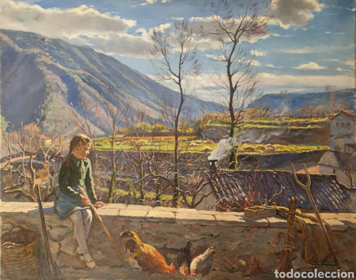 ALBERTO RÀFOLS CULLERÉS (BARCELONA, 1892-1986) - SOL DE INVIERNO.OLEO/TELA.FIRMADO.TITULADO. (Arte - Pintura - Pintura al Óleo Antigua sin fecha definida)