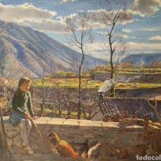 Arte: ALBERTO RÀFOLS CULLERÉS (BARCELONA, 1892-1986) - SOL DE INVIERNO.OLEO/TELA.FIRMADO.TITULADO.. Lote 196270443