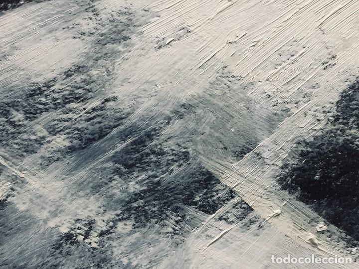 Arte: bodegon frutas oleo cartulina negra manzanas membrillos mantel firma lapiz m j anton 89 50,5x65,5cms - Foto 7 - 196362137
