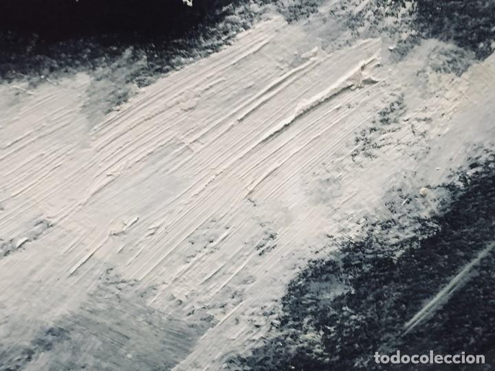 Arte: bodegon frutas oleo cartulina negra manzanas membrillos mantel firma lapiz m j anton 89 50,5x65,5cms - Foto 8 - 196362137