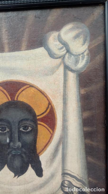 Arte: ÓLEO S/LIENZO -SANTA FAZ DE ALICANTE-. ESCUELA ESPAÑOLA S. XVI. DIM.- 75X64.5 CMS. - Foto 9 - 177299129
