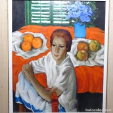 Arte: EXCELENTE ÓLEO SOBRE TABLEX DE JESÚS CASAUS MECHO(BARCELONA 1926-2002).. Lote 196388132