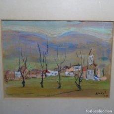 Arte: ÓLEO DE ESTEVE SUÑOL.1979.. Lote 196391375