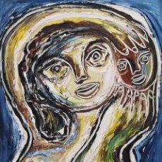 Arte: VIDAL SOUTO, JOSÉ MANUEL (OURENSE, 1948). MATERNIDAD. TÉCNICA MIXTA SOBRE LIENZO.. Lote 196482130
