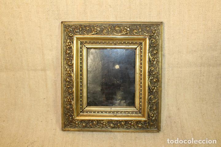 OLEO SBRE TABLA BARCO (Arte - Pintura - Pintura al Óleo Antigua siglo XVIII)