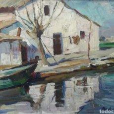 Arte: PASCUAL ROCH MINUÉ (VALENCIA, 1899 - MALLORCA, 1977) - MARINA.OLEO/TELA.FIRMADO.. Lote 196398971