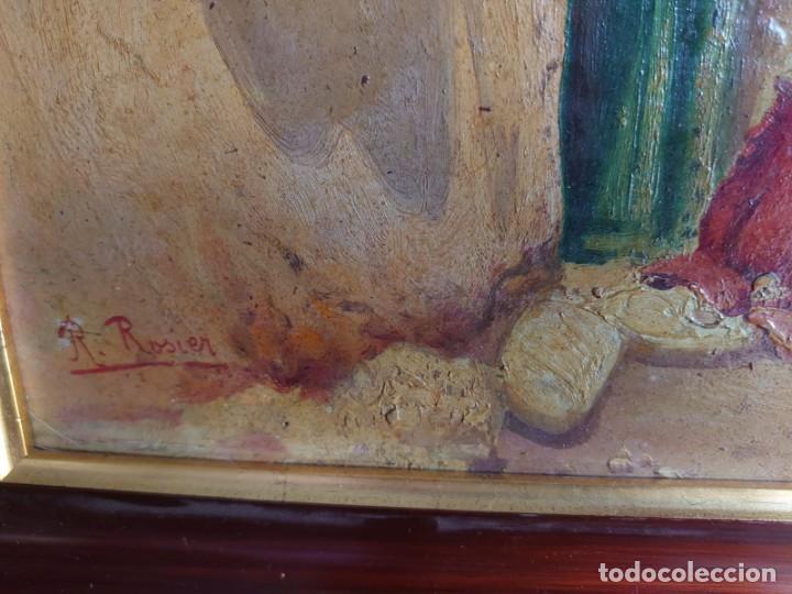 Arte: OLEO SOBRE CARTON CALLE DE UN PUEBLO ARABE - Foto 6 - 196494181