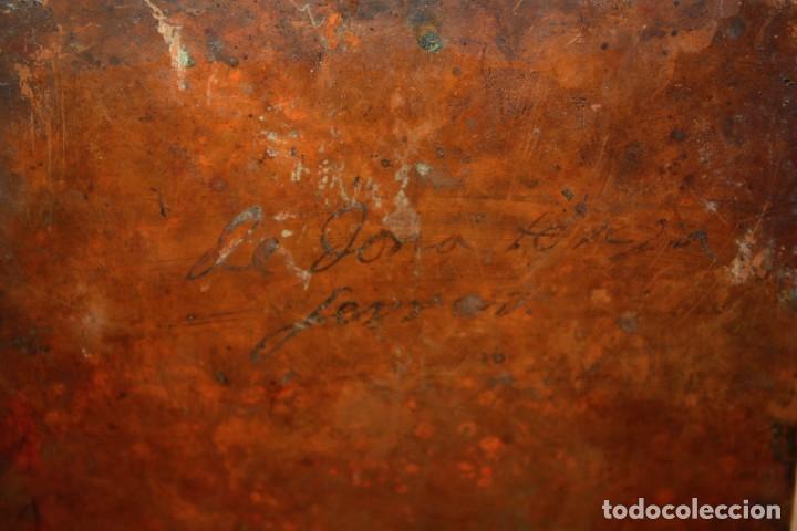 Arte: SANTA MAGDALENA PENITENTE - SG XVII - COBRE - FIRMADO Y TITULADO - 22,7 X 17 CM. - Foto 9 - 196556993
