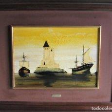 Arte: OLEO SOBRE TABLA DE RAMÓN CALDERÓN - SANTANDER 1932-2004 -. Lote 196564676