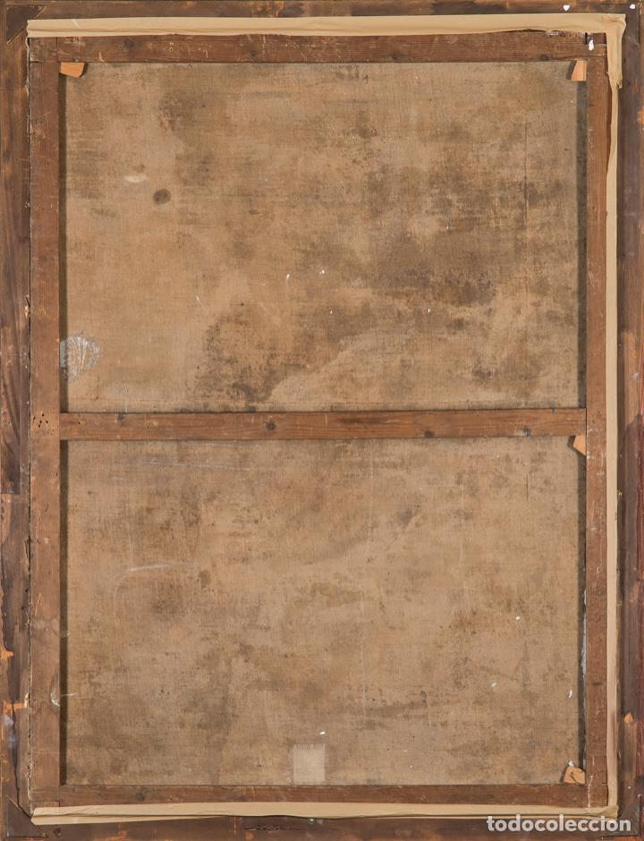 Arte: Óleo lienzo San Buenaventura, superior general de los Franciscanos. Escuela Sevillana S. XVII - Foto 4 - 196572785